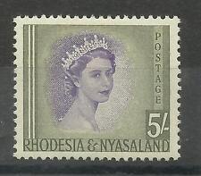 RHODESIA & NYASALAND 1954 SG 13, 5/- Viola & Verde Oliva, LM/M [364]