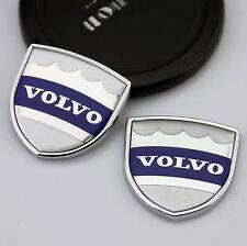 2pcs 3D Metall Auto Car Body Fenders Aufkleber Embleme LOGO für Schild Silber