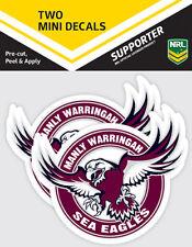 NRL Mini Decal - Manly Sea Eagles - Car Sticker Set Of 2 - 8x7cm