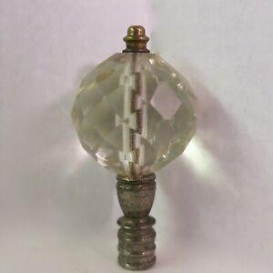 Vintage Antique Crystal Glass Topper for Trophy Flag etc. Finial