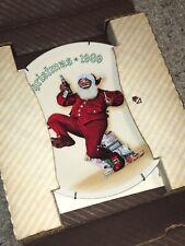 Jolly Old St Nick Santa With Pepsi Plate Knowles Ltd Christmas Vintage 1989 Bn