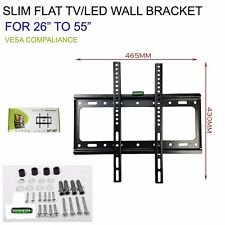 26 TO 55 SLIM FLAT TV LED LCD OLED QLED WALL MOUNT BRACKET FOR 40 42 44 47 INCH