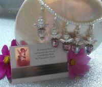 Perles ange porte-bonheur Cadeau Mariage baptême Communion Confirmation