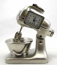 "Sanis  MIXING BOWL Silver Desk Clock Gift  ""New in box"""