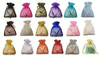 60/96/192/432 Organza Wedding Party Favor Gift Candy Sheer Bags Jewelry Pouch
