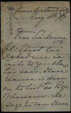 1889 Victoria - Princess Helena at Cumberland lodge to Sir Henry Ponsonby,