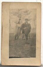 RPPC Couple in MILROY PA Pennsylvania Vintage Real Photo Postcard