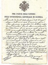 J836-PIEMONTE-1818 STATO DI SERVIZIO DI UN SOLDATO