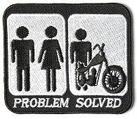 "Motocicleta PARCHE BIKER Trike ~ problema resuelto Matrimonio Motocicleta 3 ""x 2.5"" # 52"