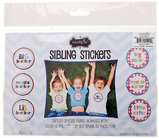 Mud Pie SIBLING STICKERS Baby Photo Scrapbook Accessory