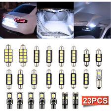 23PCS LED White Car Inside Light Kit Dome Trunk Mirror License Plate Lamp Bulbs