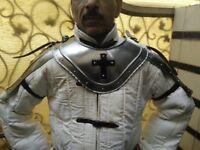 Medieval Gorget Spaulders Arm & Shoulder Set Reenactment Knight Gothic Pauldrons