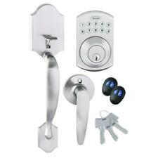 Toledo Electronic Door Handleset Anti-Bump Adjustable Backset Stainless Steel