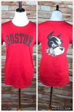 Boston University Terriers Red Crewneck Short Sleeve Cotton T-Shirt Champion