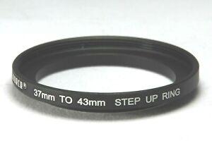 37-43mm Step up Filter ring - Black Aluminium - UK