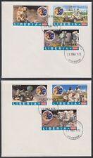 Liberia 1973 FDC mi.862/67 B spatiale space espace Apollo 17