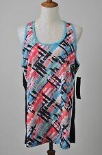 Plus Size Athletic Racer Back Abstract Workout Gym Jogging Tank Top Size 1X NEW