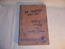 CAT Caterpillar D8 Tractor Direct Drive Dozer Crawler Parts Manual Catalog