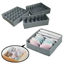 Closet Organizer Box for Underwear Bra Socks Ties Scarves Storage Drawer Divider