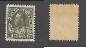 MNH Canada 20c Dark Olive Green KGV Admiral - Wet Printing #119c (Lot #20128)