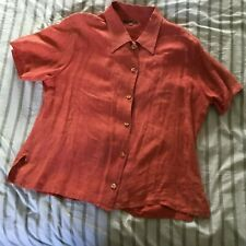 Vintage womens blouse Liberty short sleeves linen