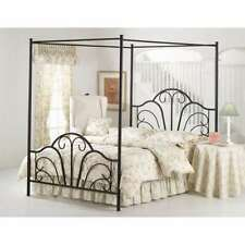 transitional - Iron Canopy Bed Frame