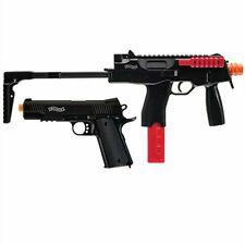 Umarex 2230111 Walther Tac Airsoft Gun Kit Package - Black - AEG Rifle + Pistol