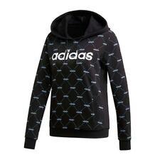 Sudadera Adidas, color negro con estampado blanco, Talla M, en perfecto estado