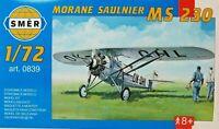 SMER MORANE-SAULNIER MS 230, französisches Flugzeug, Bausatz 1:72,0839,OVP,NEU
