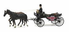 HO Roco Minitank Artitec Landau Carriage Horses Driver #800.387.423 Hand Painted