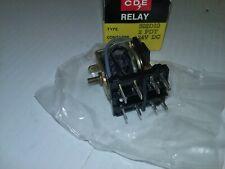 CDE 302D10 RELAY 2 PDT 24VDC 8-PINS 475 OHMS NIB