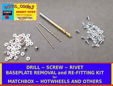 Matchbox Hotwheels & Others + Baseplate Drills Rivet & Screw Kit