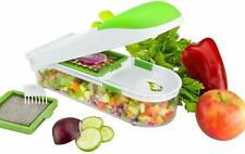 Food Chopper Slicer Dicer 3 changeable Blades Food Container by Nuovva