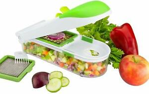 Multi Functional Food Chopper Slicer Dicer 3 Blades Food Container by Nuovva