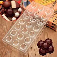 Round Diamond Shaped Chocolate Candy Mold Polycarbonate PC DIY Mould Cookie Tray