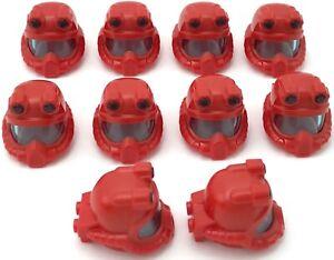 Lego 10 New Red Minifigure Headgear Helmet Underwater Deep Diver Pieces