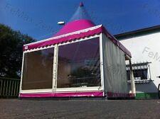 4mx4m inkl. 2x Fenster 1xRolltür Pagode in rosa Partyzelt Festzelt Pavillon