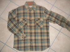 vtg SEARS SHIRT JAC Flannel Wool Jacket Plaid 50s 60s M