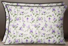 S4Sassy 1 Pair Decorative Sofa Pillow Sham Cotton Poplin Cushion Cover