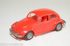 PLASTIC VW VOLKSWAGEN BEETLE KAFER RED NEAR MINT CONDITION