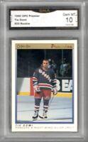 1990-91 OPC Premier #25 Tie Domi RC | Graded GEM MINT 10 | Rangers > Maple Leafs