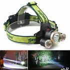 15000LM 3*CREE XM-L T6 LED Rechargeable Adjustable Bright Headlamp Head Light