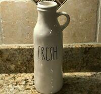 Rae Dunn by Magenta FRESH Milk Bottle Flower Vase Ceramic Farmhouse LL Brand New