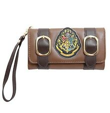 Harry Potter Hogwarts Crest Satchel Wristlet Trifold Flap Wallet New With Tags!