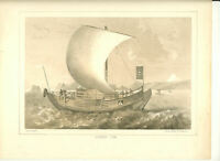 Japanese Junk Drawn by J. B. Meffert. 1856 Perry Expedition ~Japan~