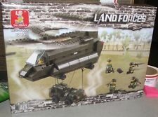 Sluban Building Blocks Land Forces Air Transport Helicopter 370 PC Set New