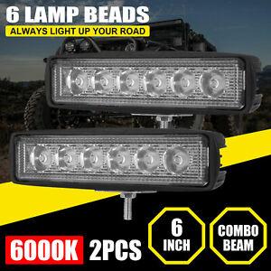 2x 6inch 36W LED Work Light Bar Spot Pods Fog Lamp Offroad SUV ATV Driving Truck
