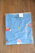 Tintin/ Tim und Struppi T-Shirt: Die Welt von Tintin / blau/ L Moulinsart Hergé