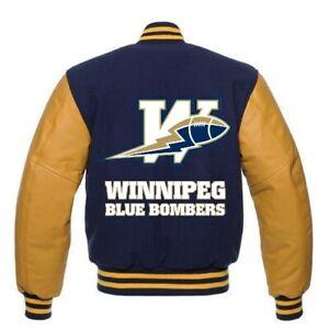 Winnipeg Blue Bombers custom made CFL varsity jacket all sizes
