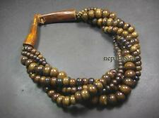 N4939 Ethnic Naga Brown Color Multi Strand Bone bead Horn FASHION NECKLACE TIBET